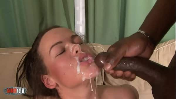 5 big cocks and DP for one naughty busty chick