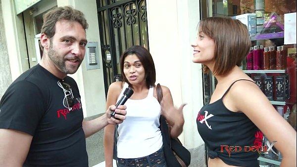 Brunnette threesome casting fuck blowjob – Sandra Red – Mar Durán