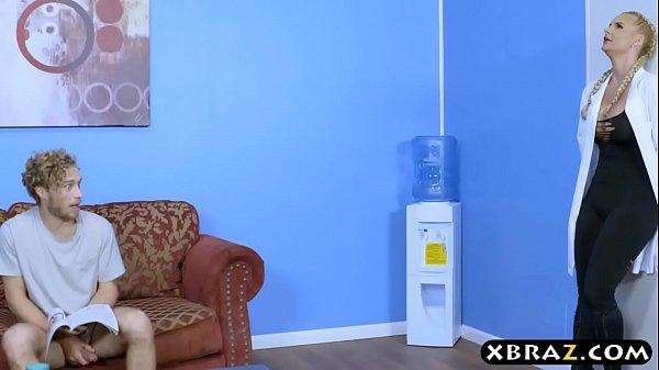 Phoenix Marie double penetration inside a sperm bank