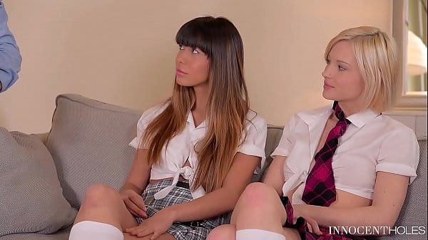 X-Rated After School Studies – Extremely Hot Teen Threesome
