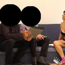 She's set up some cameras to film herself banging two clueless salesmen